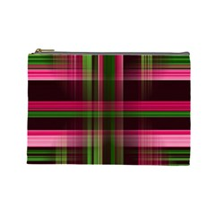 Background Texture Pattern Color Cosmetic Bag (Large)