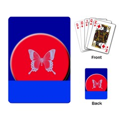Blue Background Butterflies Frame Playing Card