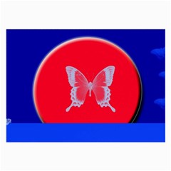 Blue Background Butterflies Frame Large Glasses Cloth (2-Side)