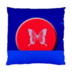Blue Background Butterflies Frame Standard Cushion Case (one Side)