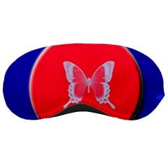 Blue Background Butterflies Frame Sleeping Masks