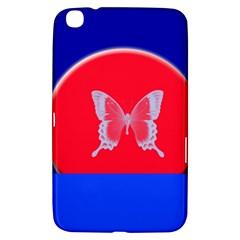 Blue Background Butterflies Frame Samsung Galaxy Tab 3 (8 ) T3100 Hardshell Case