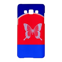 Blue Background Butterflies Frame Samsung Galaxy A5 Hardshell Case