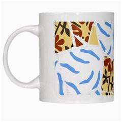 Broken Tile Texture Background White Mugs
