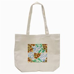 Broken Tile Texture Background Tote Bag (Cream)
