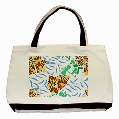 Broken Tile Texture Background Basic Tote Bag (Two Sides)