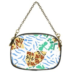 Broken Tile Texture Background Chain Purses (One Side)