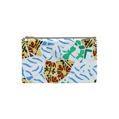 Broken Tile Texture Background Cosmetic Bag (Small)