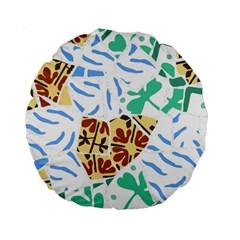 Broken Tile Texture Background Standard 15  Premium Round Cushions