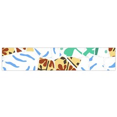 Broken Tile Texture Background Flano Scarf (Small)
