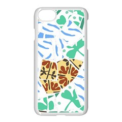 Broken Tile Texture Background Apple Iphone 7 Seamless Case (white)