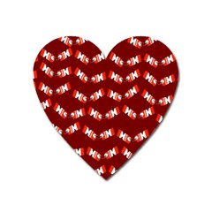 Christmas Crackers Heart Magnet