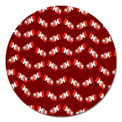 Christmas Crackers Magnet 5  (Round)