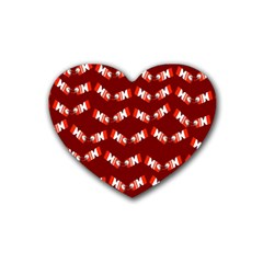 Christmas Crackers Heart Coaster (4 pack)
