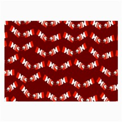 Christmas Crackers Large Glasses Cloth (2-Side)