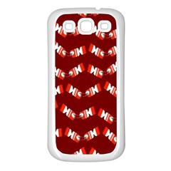Christmas Crackers Samsung Galaxy S3 Back Case (White)