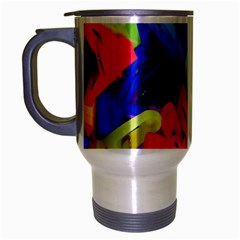 Clothespins Colorful Laundry Jam Pattern Travel Mug (Silver Gray)