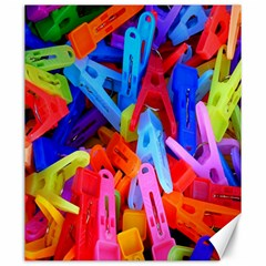 Clothespins Colorful Laundry Jam Pattern Canvas 20  x 24