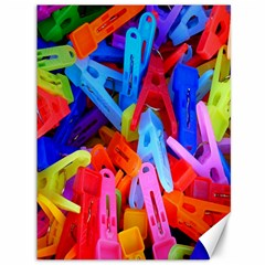 Clothespins Colorful Laundry Jam Pattern Canvas 36  x 48