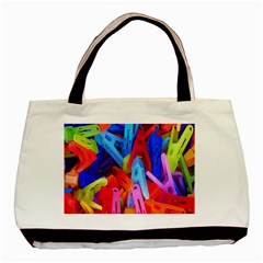 Clothespins Colorful Laundry Jam Pattern Basic Tote Bag (Two Sides)