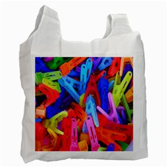 Clothespins Colorful Laundry Jam Pattern Recycle Bag (One Side)