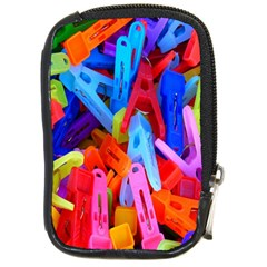 Clothespins Colorful Laundry Jam Pattern Compact Camera Cases