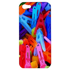 Clothespins Colorful Laundry Jam Pattern Apple iPhone 5 Hardshell Case