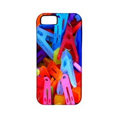 Clothespins Colorful Laundry Jam Pattern Apple iPhone 5 Classic Hardshell Case (PC+Silicone)