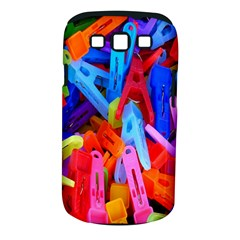 Clothespins Colorful Laundry Jam Pattern Samsung Galaxy S III Classic Hardshell Case (PC+Silicone)