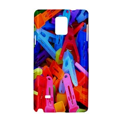 Clothespins Colorful Laundry Jam Pattern Samsung Galaxy Note 4 Hardshell Case