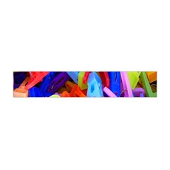 Clothespins Colorful Laundry Jam Pattern Flano Scarf (Mini)