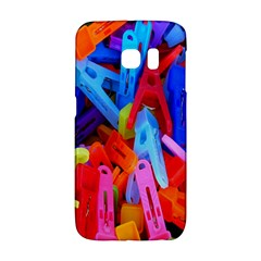Clothespins Colorful Laundry Jam Pattern Galaxy S6 Edge