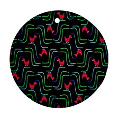 Computer Graphics Webmaster Novelty Pattern Ornament (Round)