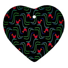 Computer Graphics Webmaster Novelty Pattern Ornament (Heart)