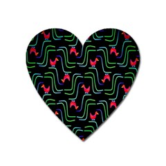Computer Graphics Webmaster Novelty Pattern Heart Magnet