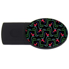 Computer Graphics Webmaster Novelty Pattern USB Flash Drive Oval (2 GB)