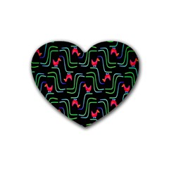 Computer Graphics Webmaster Novelty Pattern Rubber Coaster (Heart)