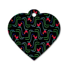 Computer Graphics Webmaster Novelty Pattern Dog Tag Heart (One Side)