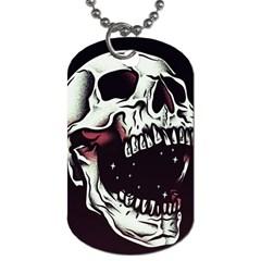 Death Skull Dog Tag (One Side)