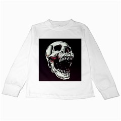 Death Skull Kids Long Sleeve T-Shirts