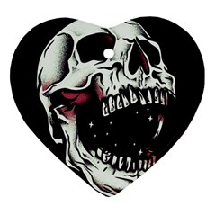 Death Skull Heart Ornament (Two Sides)