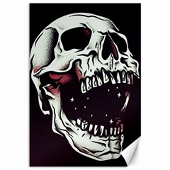 Death Skull Canvas 12  x 18