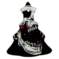 Death Skull Christmas Tree Ornament (Two Sides)