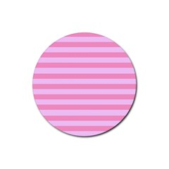 Fabric Baby Pink Shades Pale Rubber Round Coaster (4 pack)