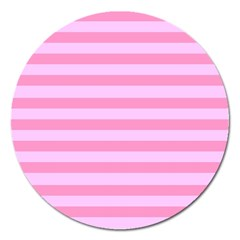 Fabric Baby Pink Shades Pale Magnet 5  (Round)