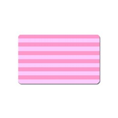 Fabric Baby Pink Shades Pale Magnet (Name Card)