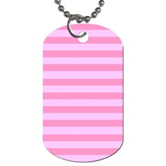 Fabric Baby Pink Shades Pale Dog Tag (One Side)