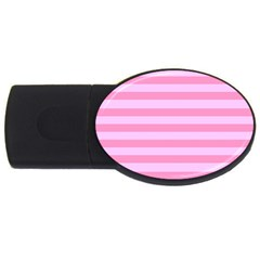 Fabric Baby Pink Shades Pale USB Flash Drive Oval (4 GB)