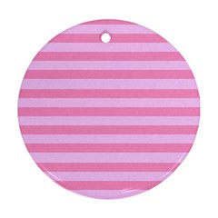 Fabric Baby Pink Shades Pale Round Ornament (Two Sides)