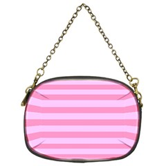 Fabric Baby Pink Shades Pale Chain Purses (One Side)